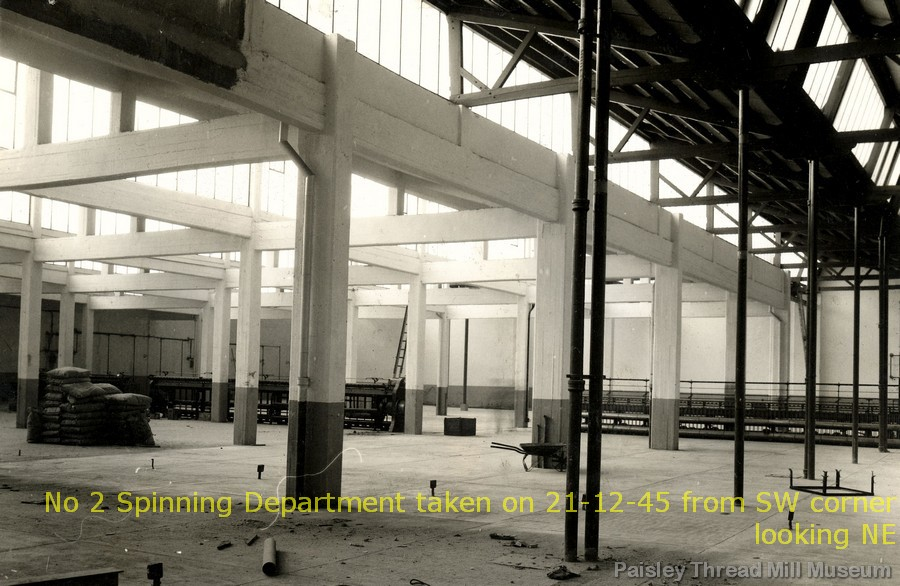No 2 Spinning Department taken on 21-12-45 from SW corner looking NE