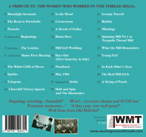 Mill Girls on Tour Cd back cover